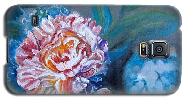 Galaxy S5 Case featuring the painting Peony And Chinese Vase by Jenny Lee