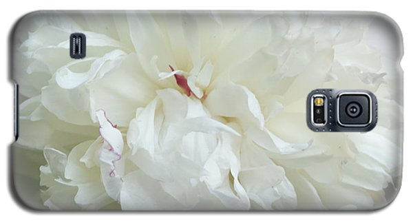 Peony In White Galaxy S5 Case