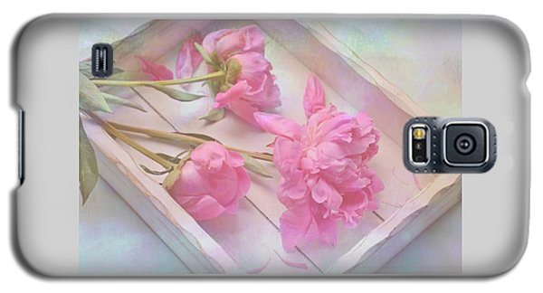 Peonies In White Box Galaxy S5 Case
