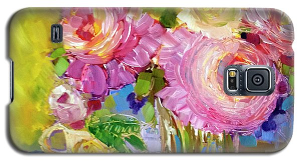Galaxy S5 Case featuring the painting Peony Love by Rosemary Aubut