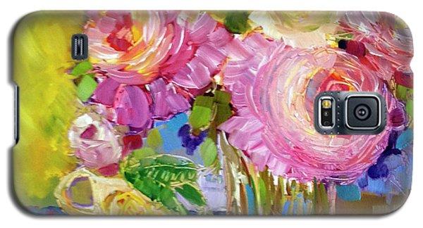Peony Love Galaxy S5 Case by Rosemary Aubut