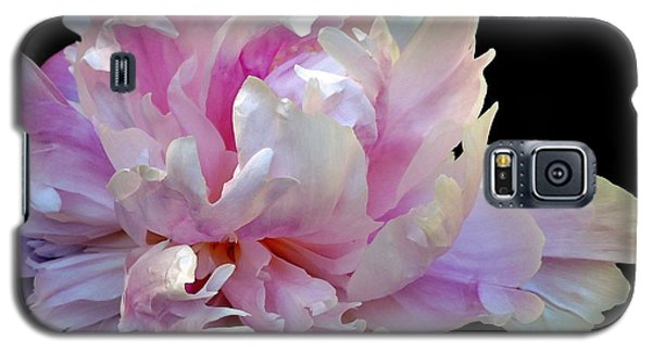 Peony On Black Galaxy S5 Case