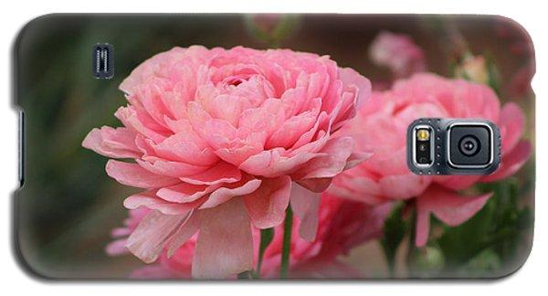 Peony Pink Ranunculus Closeup Galaxy S5 Case
