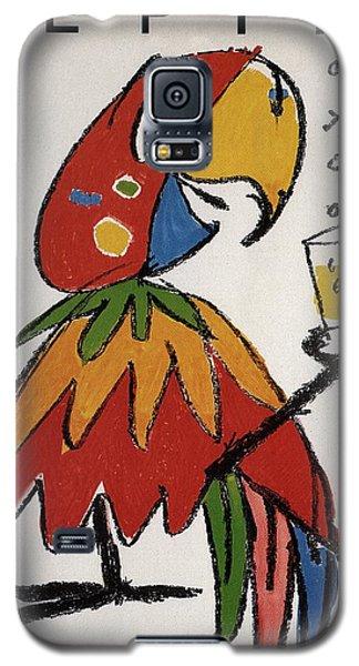 Parakeet Galaxy S5 Case - Pepita - Grapefruit Drinks - Vintage Advertising Poster by Studio Grafiikka