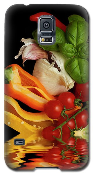 Galaxy S5 Case featuring the photograph Peppers Basil Tomatoes Garlic by David French