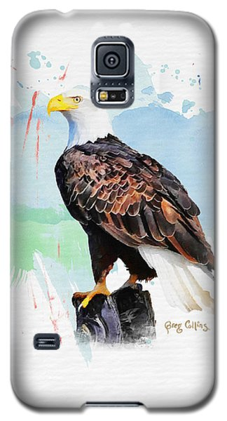 Perched Eagle Galaxy S5 Case by Greg Collins