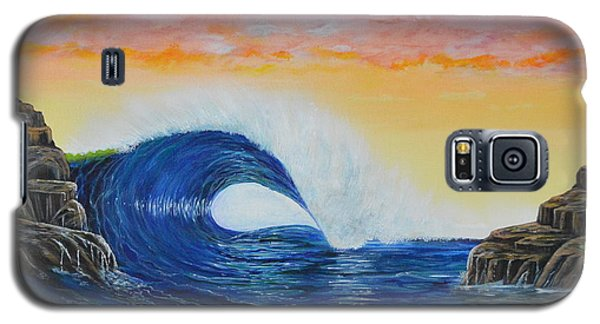Galaxy S5 Case featuring the painting Perfect Curl by Mary Scott