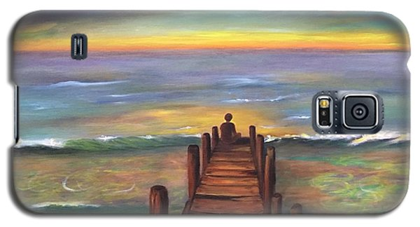 Galaxy S5 Case featuring the painting Perfect Solitude  by Susan Dehlinger