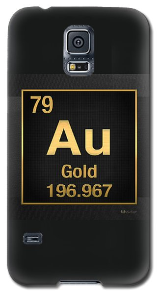 Periodic Table Of Elements - Gold - Au - Gold On Black Galaxy S5 Case