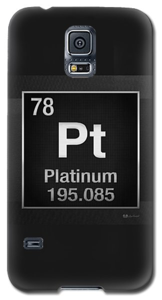 Periodic Table Of Elements - Platinum - Pt - Platinum On Black Galaxy S5 Case