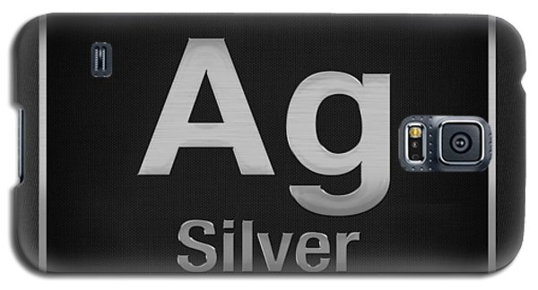 Periodic Table Of Elements - Silver - Ag - Silver On Black Galaxy S5 Case