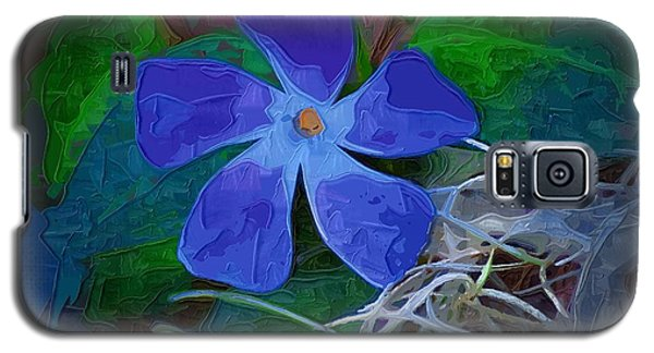 Galaxy S5 Case featuring the digital art Periwinkle Blue by Donna Bentley