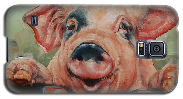 Perky Pig Galaxy S5 Case by Margaret Stockdale