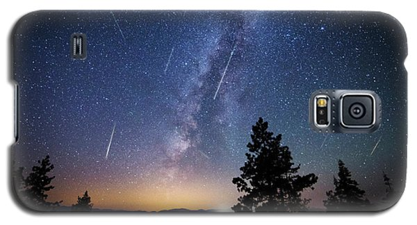 Galaxy S5 Case featuring the photograph Perseid Meteor Shower From Tahoe by Brad Scott