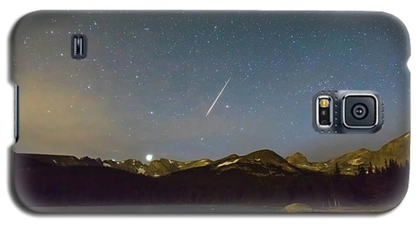Galaxy S5 Case featuring the photograph Perseid Meteor Shower Indian Peaks by James BO Insogna