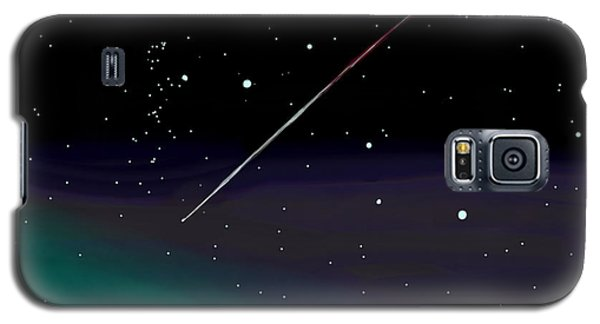 Galaxy S5 Case featuring the digital art Perseid Meteor Shower  by Jean Pacheco Ravinski