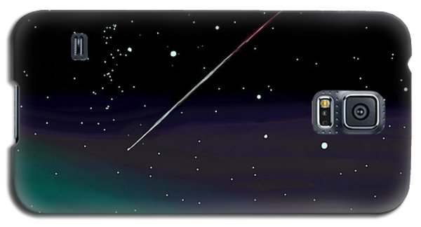 Perseid Meteor Shower  Galaxy S5 Case by Jean Pacheco Ravinski
