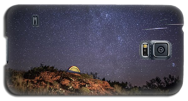 Galaxy S5 Case featuring the photograph Perseids Over Caprock Canyons by Melany Sarafis