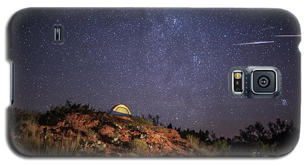 Perseids Over Caprock Canyons Galaxy S5 Case by Melany Sarafis
