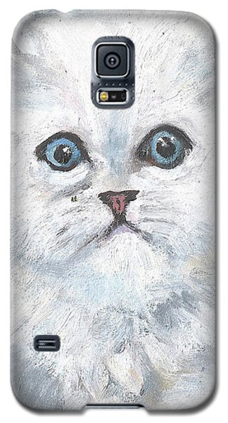 Galaxy S5 Case featuring the painting Persian Kitty by Jessmyne Stephenson