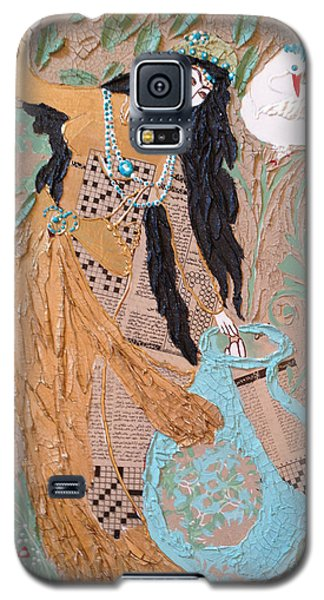 Galaxy S5 Case featuring the painting Persian Painting 3d by Sima Amid Wewetzer