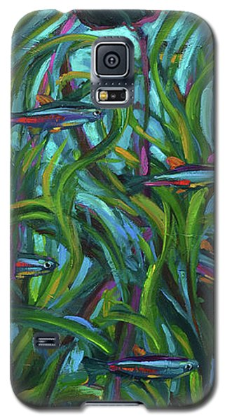 Persistent Fish Betta  Galaxy S5 Case by Robert Phelps