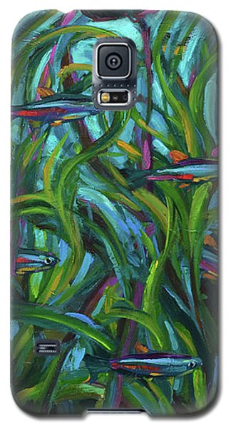 Galaxy S5 Case featuring the painting Persistent Fish Betta  by Robert Phelps