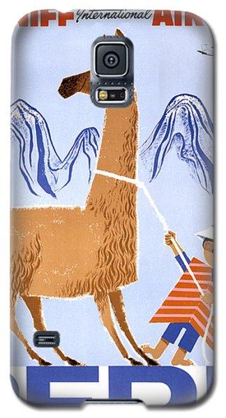 Peru Vintage Travel Poster Restored Galaxy S5 Case