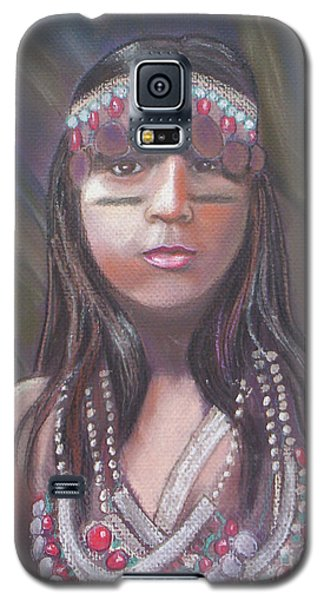 Galaxy S5 Case featuring the pastel Peruvian Girl by Julie Brugh Riffey