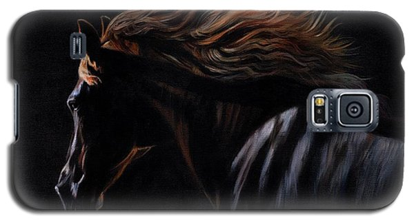 Galaxy S5 Case featuring the painting Peruvian Paso Horse by David Stribbling
