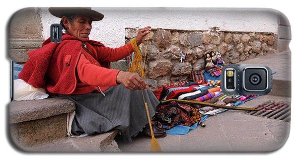 Galaxy S5 Case featuring the photograph Peruvian Weaver by Aidan Moran
