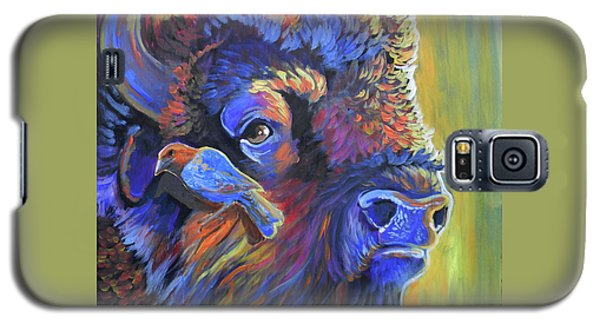 Galaxy S5 Case featuring the painting Pesky Cowbird by Jenn Cunningham
