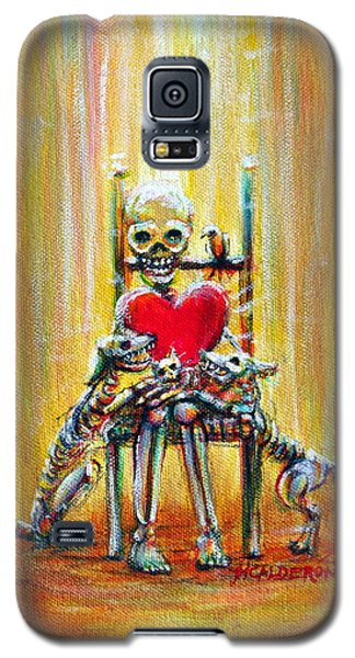 Galaxy S5 Case featuring the painting Pet Love by Heather Calderon