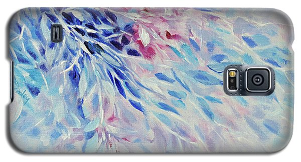Galaxy S5 Case featuring the painting Petals And Ice by Joanne Smoley