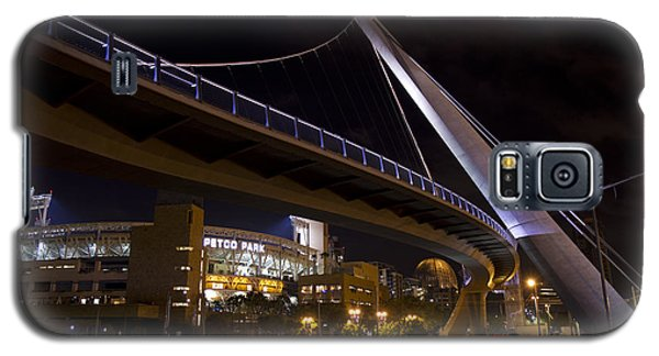 Galaxy S5 Case featuring the photograph Petco Park And The Pedestrian Bridge by Nathan Rupert