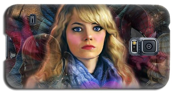 Galaxy S5 Case featuring the digital art Peter Parker's Haunting Memories Of Gwen Stacy by Barbara Tristan