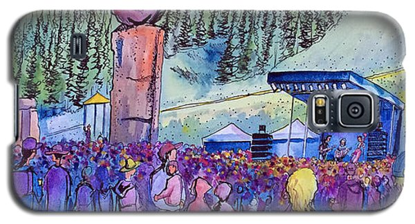 Galaxy S5 Case featuring the painting Peter Rowen At Copper Mountain by David Sockrider
