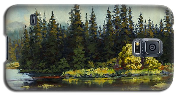 Galaxy S5 Case featuring the painting Peterson Lake by Kurt Jacobson