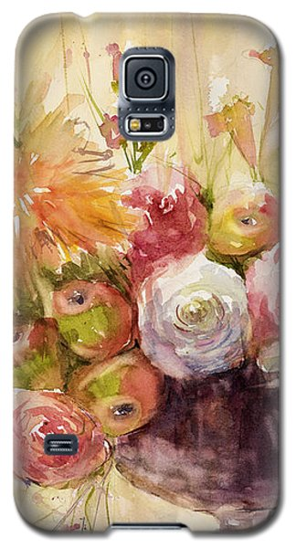 Petite Apples In Floral Galaxy S5 Case by Judith Levins