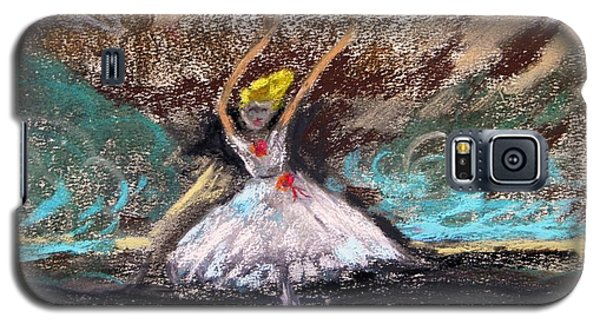 Galaxy S5 Case featuring the painting Petite Ballerina by Mary Carol Williams
