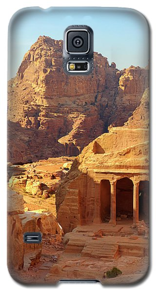 Galaxy S5 Case featuring the photograph Petra Buildings, Pond And Gardens Complex by Nicola Nobile