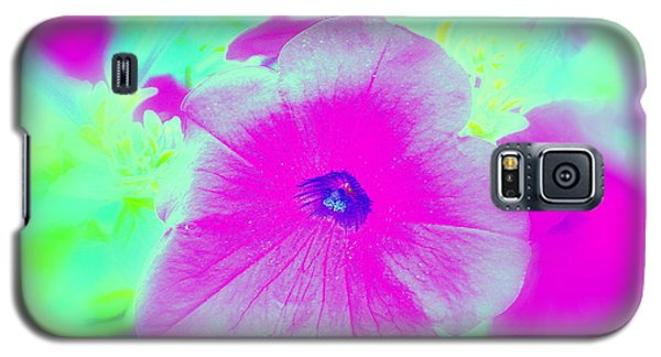 Galaxy S5 Case featuring the photograph Petunia Glow E by Greg Moores
