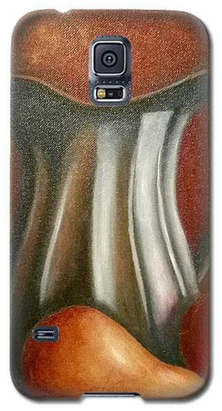 Galaxy S5 Case featuring the painting Pewter Reflections  by Susan Dehlinger