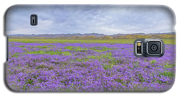 Galaxy S5 Case featuring the photograph Phacelia Field by Marc Crumpler