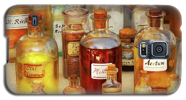 Galaxy S5 Case featuring the photograph Pharmacy - Serums And Elixirs by Mike Savad
