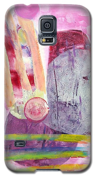 Galaxy S5 Case featuring the painting Phases by Mary Schiros