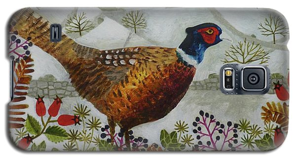 Pheasant And Snowy Hillside Galaxy S5 Case