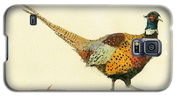Pheasant Galaxy S5 Case - Pheasant Bird Art by Juan  Bosco