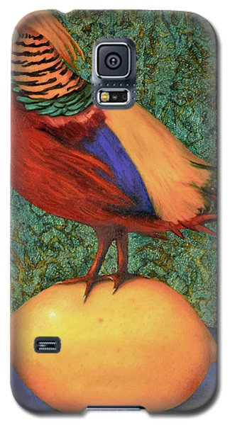 Galaxy S5 Case featuring the painting Pheasant On A Lemon by Leah Saulnier The Painting Maniac