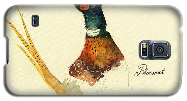 Pheasant Galaxy S5 Case - Pheasant Painting by Juan  Bosco
